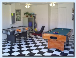 Games room at the Orlando villa to rent
