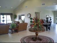 Reception area at High Grove gated community near Orlando Florida